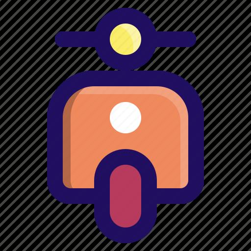 bike, motor, scooter, transportation, vehicle icon