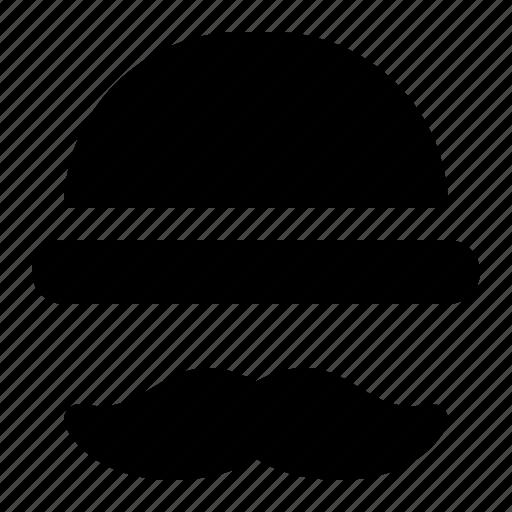 cap, hat, hipster, man, mustache icon