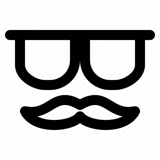 face, geek, glasses, hipster, man, mustache icon