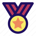 achievement, award, honor, medal, star, winner icon