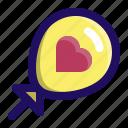 balloon, celebration, love, party, valentine, wedding icon