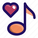love, music, note, romantic, sing, song icon
