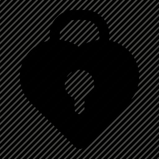 heart, lock, love, marriage, valentine, wedding icon