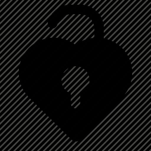 heart, love, marriage, unlock, valentine, wedding icon