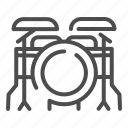 drum, kit, music, instrument, percussion, drums