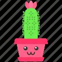 cactus, cactus icon, hedgehog, kawaii icon
