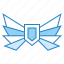 guardian, insurance, protection, shield, wing icon