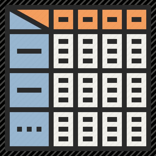diet plan spreadsheet table task icon