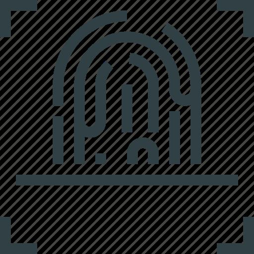 fingerprint, key icon