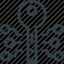 electronic, key icon