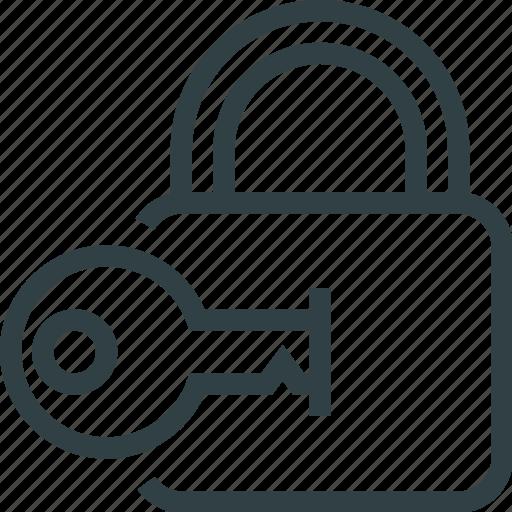 key, keyhole, lock, unlock icon