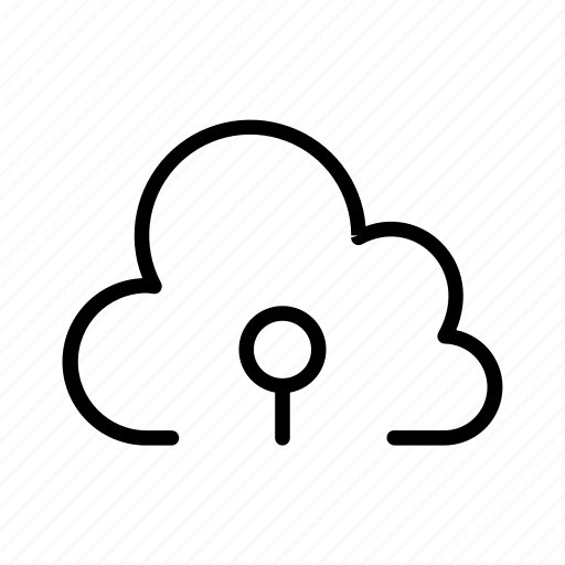 Lock, key, cloud, online, security icon - Download on Iconfinder