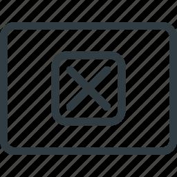 key, keyboard, shortcut, type, x icon