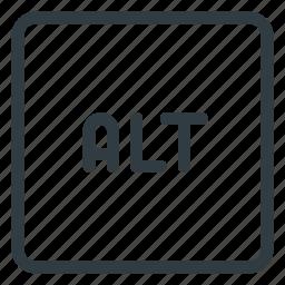 alt, keyboard, shortcut, type icon