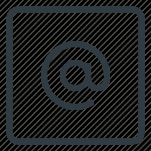 at, keyboard, shortcut, type icon