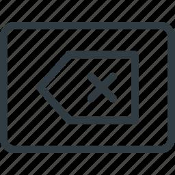 backspace, keyboard, shortcut, type icon