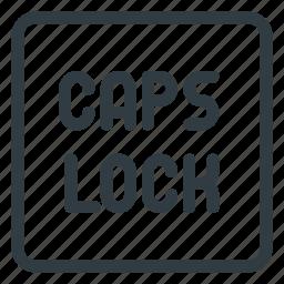 caps, keyboard, lock, shortcut, type icon