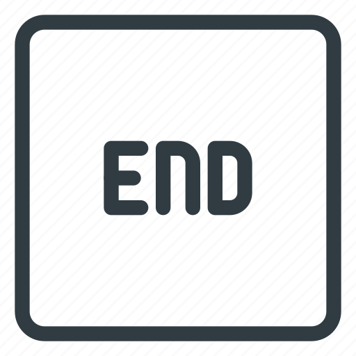 end, keyboard, shortcut, type icon