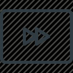 fast, forward, keyboard, shortcut, type icon