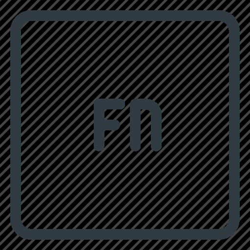 fn, keyboard, shortcut, type icon