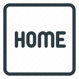home, keyboard, shortcut, type icon