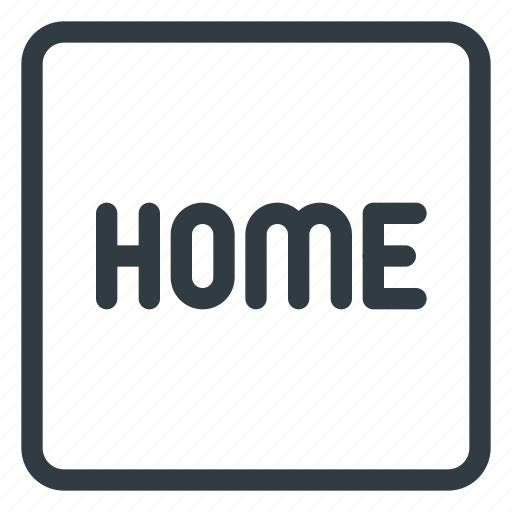 home, keyboard, shortcut, type icon