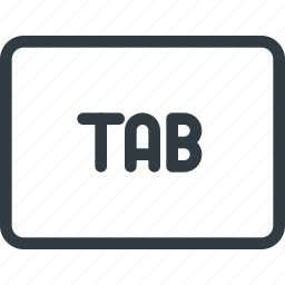 keyboard, shortcut, tab, type icon