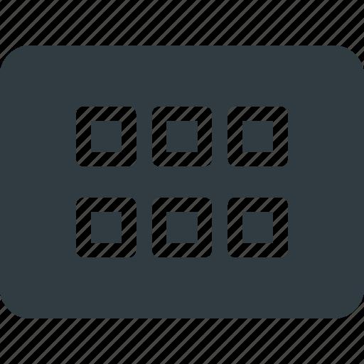 application, keyboard, shortcut, type, view icon