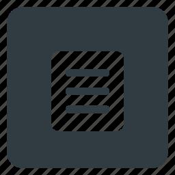 keyboard, menu, shortcut, type icon