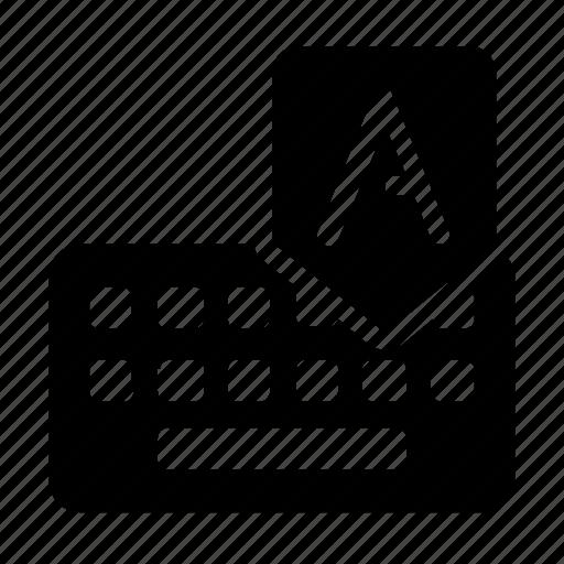 a, alphabet, keyboard icon