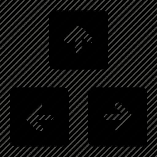 arrows, function, keyboard icon