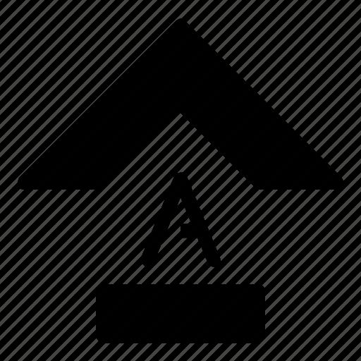 arrow, capslock, function icon