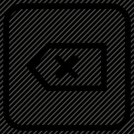 backspace, function, key icon