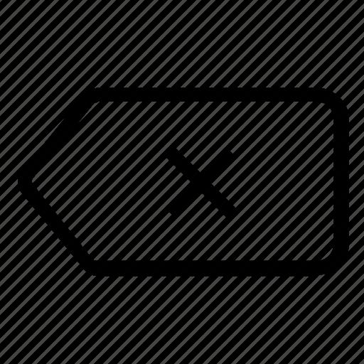 arrow, backspace, function, key icon