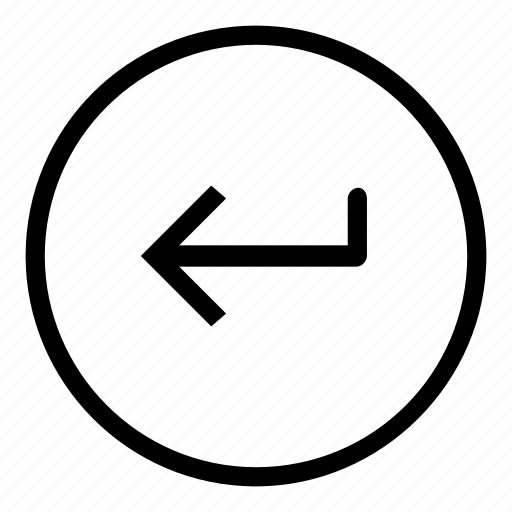 arrow, enter, function, key icon