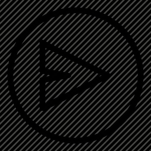 arrow, forward, function, key icon