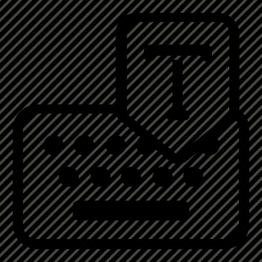 keyboard, text icon