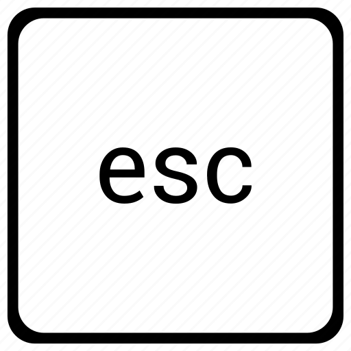 element, esc, escape, function, keyboard icon
