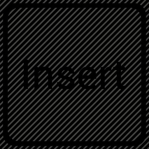 element, function, insert, keyboard icon