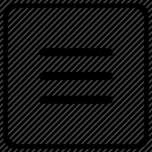 bar, element, function, keyboard, list, menu icon