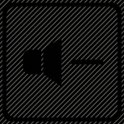 element, keyboard, minus, sound, speaker, volume icon