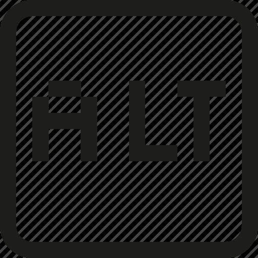 alt, key icon