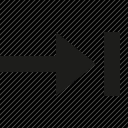 arrow, last, right icon