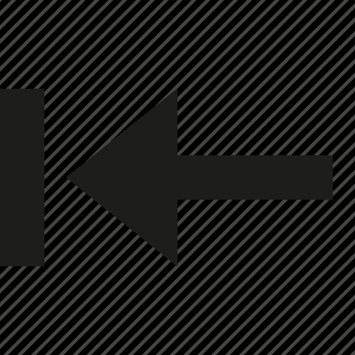 arrow, first, left, previous icon