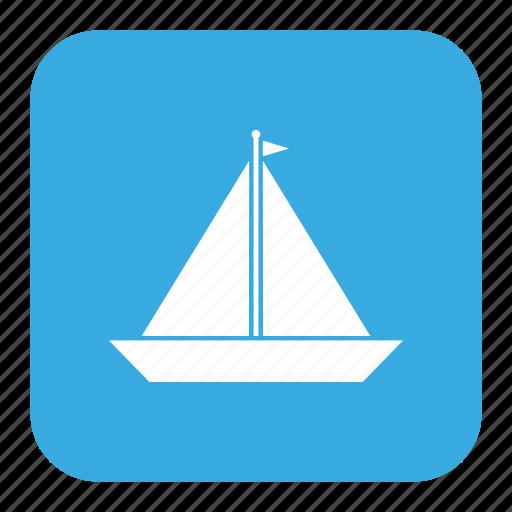 sail, sailboat, sailing boat, sailing ship, sailor, sea, ship icon