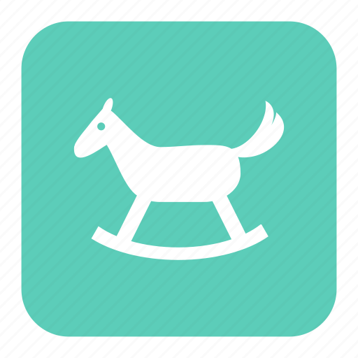 rocking horse, toy, toys, wooden horse icon