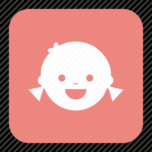 children, girl, happy, kid, kids, laugh icon