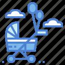 baby, childhood, stroller, transport