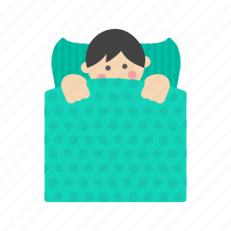 bed, boy, little, lying, rest, resting, sleeping icon