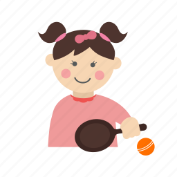 ball, child, happy, kid, playing, tennis, toy icon